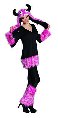 Crazy Monster Fellshirt Monsterkostüm Plüschanzug Kostüm für Damen