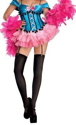 Burlesque Can-Can Rockette Sweet Sensations Blue Costume Women M 8-10