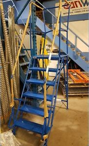 USED ROLLING LADDER ON SALE. MECHANICS MOBILE LADDER. SAVE $ 315 Kitchener / Waterloo Kitchener Area image 3