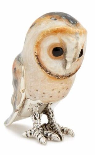 Saturno Silver and Enamel Barn Owl- Large