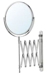 BRAND NEW - IKEA FRÄCK Mirror, Stainless Steel (magnifies 2.5X)