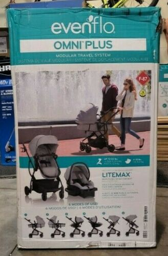 Evenflo Urbini Omni Plus Travel System stroller, Heather Gray BRAND NEW IN BOX