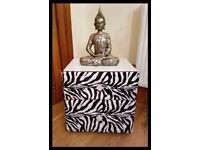 Stunning Zebra Bedside Table - Free Delivery