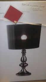 Designer Black Table Lamp Black Shade EX SHOWHOME