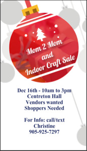 Mom 2 Mom and Indoor Craft Sale