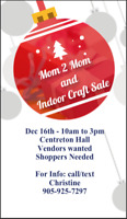 MOM TO MOM AND INDOOR CRAFT SHOW IN GRAFTON