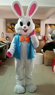 Easter Bunny Mascot Costume Cartoon Rabbit Cosplay for Easter Celebration - Costume Cartoon