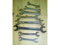 VARIOUS OLD SPANNERS: