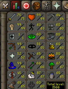 Runescape Maxed 75 Attack Pure 1 Defence - Fully Loaded