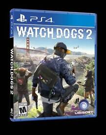 WATCH DOGS 2 PS4 EXCELLENT CONDITION