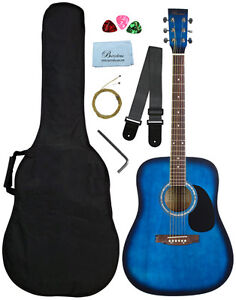 Barcelona Beginner Series 41-Inch Full-Size Dreadnought Acoustic Guitar with Bag