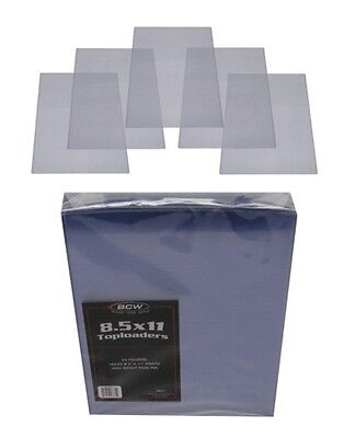 (5) BCW-TLCH-8.5X11 Document Paper Toploader Top Load Covers Sleeves Holders