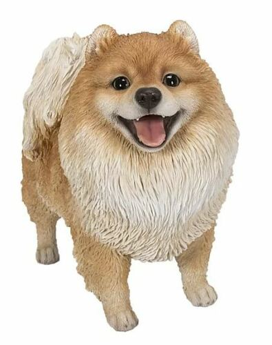 "15"" POMERANIAN DOG FIGURINE  STATUE LIFELIKE COLLECTIBLE ANIMAL HOME DECOR"