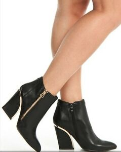 Stylish Black booties with gorgeous Gold accents Cambridge Kitchener Area image 2