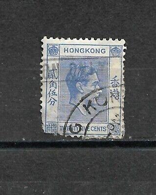 Timbre HONG KONG - 148 (o) - Roi George VI (25) - 1938 - 2 photos