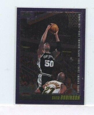 DAVID ROBINSON 2000-01 Topps Chrome #87 San Antonio Spurs