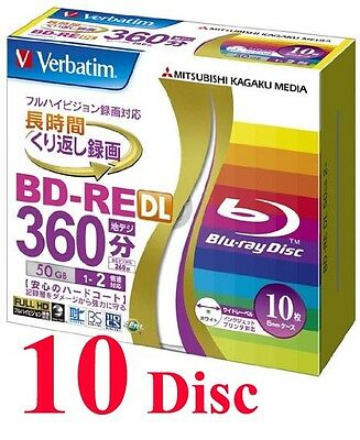 Verbatim BD-RE DL 2x 50GB rewritable Blu-ray disc 10 Pack