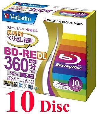 Verbatim BD-RE DL 2x 50GB rewritable Blu-ray disc 10 Pack