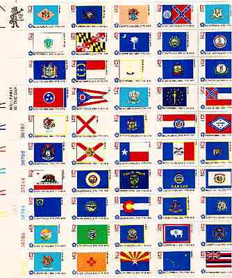 SCOTT 1633/8213 CENT50 STATE FLAGSSHEET OF 50 STAMPS