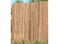 Natural Bamboo Split Pole Garden Screening Size 6x6 Feet Never used New
