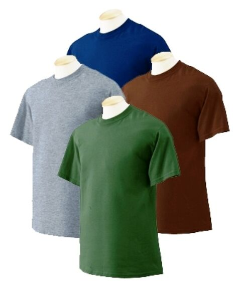 36 pc Men Fruit of the Loom Color Blank S/S Tee T-shirt Wholesale Bulk Lot Sizes