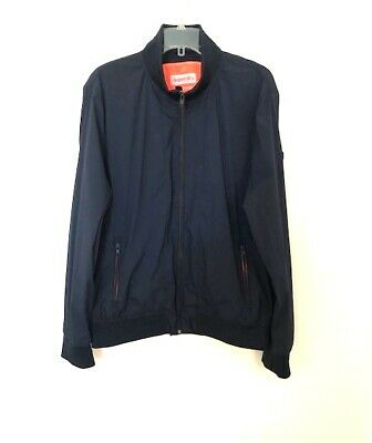 Superdry Men's Flyweight Harrington British Design Navy Blue Jacket (Size XL)