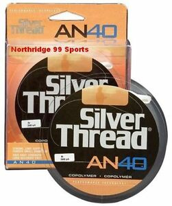 Silver Thread AN40 10# Copolymer 300 Yds Filler Spool Silver