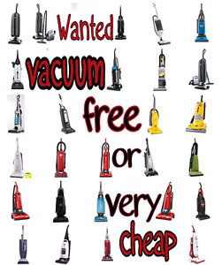 I.S.O free or very cheap vacuum