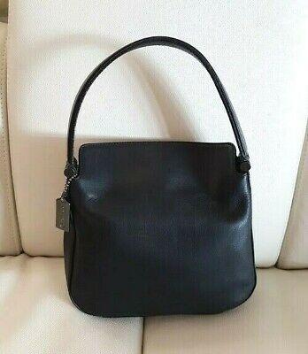Coach Black Cowhide Leather Hobo Bag Handbag Grab Bag ~ No: M92 - 9181