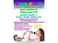 Private singing/vocal lessons available in the Twickenham area