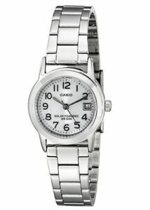 Casio Women's Easy-to-Read Solar Powered Stainless Steel Watch