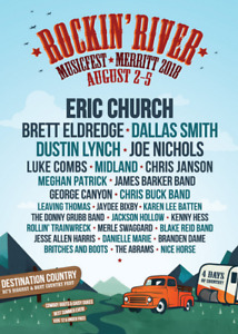 2 FOUR DAY PASSES W/ CAMPING - ROCKIN RIVER MUSIC FEST
