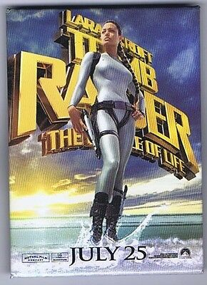 LARA CROFT TOMB RAIDER THE CRADLE OF LIFE PROMOTIONAL PIN - Angelina Jolie