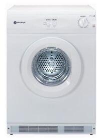 White Night C44AW 6kg Air Vented Tumble Dryer in White