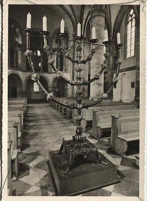 Alte Postkarte - Essen - Münster - Siebenarmiger Leuchter