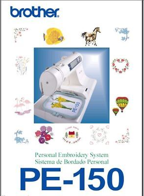 BROTHER PE-150 Instruction Manual Users Guide PDF on CD - FREE SHIPPING