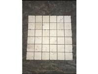 WHITE TUMBLED MOSAICS - 9 SHEETS - £20.00