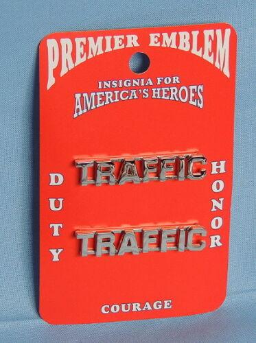 Police Officer (Traffic) Silver - Shirt/Jacket Emblem  -  (Premier)