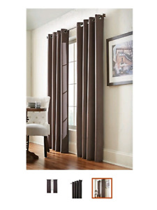 4 Brand New 95x54 Black Out Drapery Panels