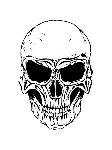 Airbrush Schablone - Stencil Nr.15262 Skull Totenkopf