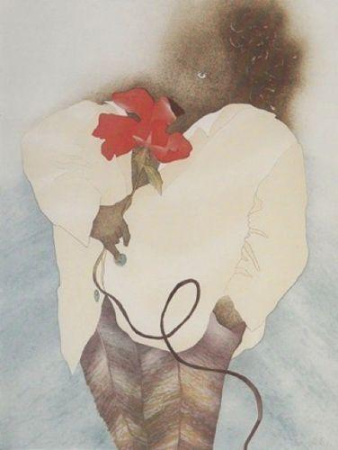 Charlotte Reine Chanteur de Bleus Original Etching Art
