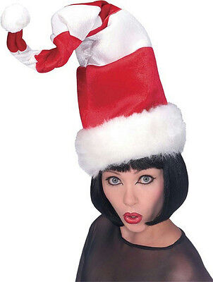Red and White Striped Wired Santa Hat with Faux Fur Trim Christmas Cat Hat - Cat With Santa Hat