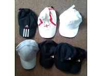 7 x Baseball Caps, NEW / USED Job Lot, Inc Adidas amongst Assorted Others! FREE POSTAGE!