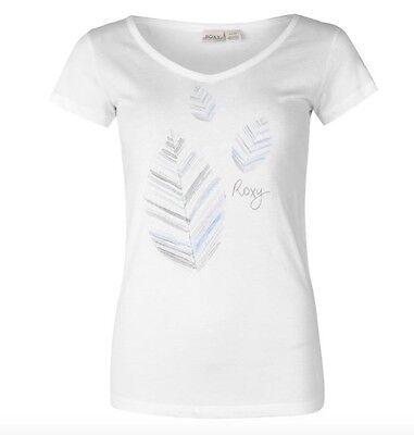 Roxy Lazy Day Damen Surf Shirt T-Shirt Weiß Blau alle Größen Neu mit Etikett