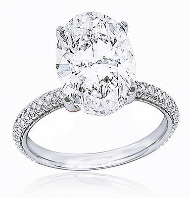 1.90 Ct Oval Cut Diamond Engagement Ring & Matching Band Micro Pave D,VS1 GIA  5