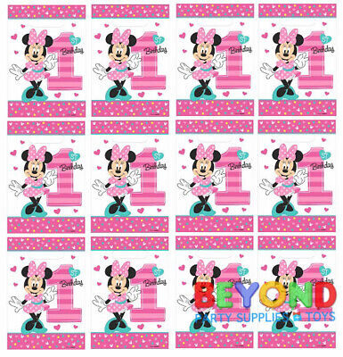 Minnie Mouse Favors (Disney Minnie Mouse 1st Birthday Loot Bags Favors & Party Bag Fillers Candy)