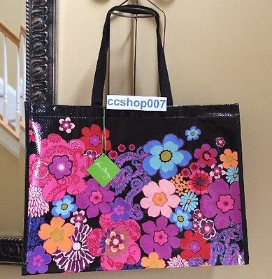 Vera Bradley Large Reusable  Market Tote Bag Nwt Floral Fiesta