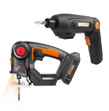 WX550L.1 WORX 20V Axis Reciprocating & Jig Saw + 8V Cordless Impact Drill WX270L