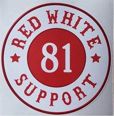Hells Angels  Support   RED WHITE 81 SUPPORT   Aufkleber  Original 81 Support
