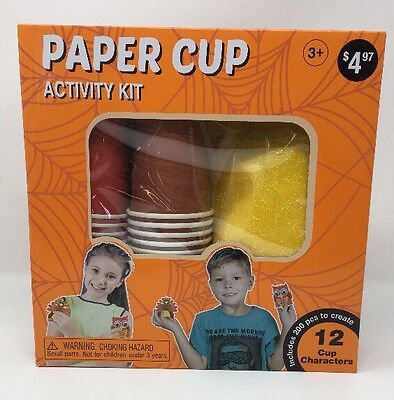 Halloween Paper Cup Activity Kit - Fall - Autumn Halloween Activities